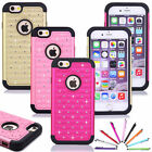 """Bling Diamante Total Protection Case Hard Soft Cover For Apple iPhone 6 4.7"""" New"""