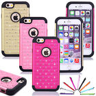 "Bling Diamante Total Protection Case Hard Soft Cover For Apple iPhone 6 4.7"" New"