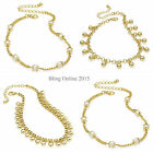 ANKLET ANKLE BRACELET CHAIN GOLD TONE CHOICE OF DESIGNS SUMMER FASHION HOLIDAY
