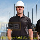 JCB FENTON Heavyweight Contrast Colour Mens Work Polo Shirt Workwear T-shirt