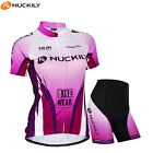 Women's Bicycle Gear Short Sleeve Tops Jersey & Shorts Kits Racing Outfits S-XL
