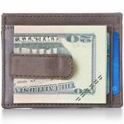 Alpine Swiss Mens Money Clip Genuine Leather Minimalist Slim Front Pocket Wallet <br/> Perfectly Thin Wallet Just Right to Carry All You Need