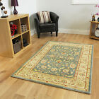 New Blue Cream Traditional Rugs Small Extra Large Long Big Huge Size Soft Mats