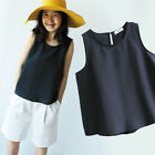 b29 Key hole button back Loose A line sleeveless tank cami top