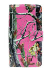 LG G Flex 2 Premium Soft Leather Wallet Phone Case Cover Pink Camo Tree