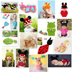 NewBorn Baby Fashion Crochet Knit Costume Clothes Photo Photography Prop Hat Set