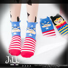 street punk american cartoon fantasy Comic superhero stripe socks captain