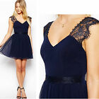 Lace Mini Short Dress Sexy Girls Women Cocktail Party Wedding Casual Dresses
