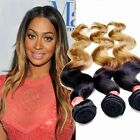 Ombre 2 Tone 3 Bundles/300g Malaysian Hair Extensions Remy Body Wave Hair Weft