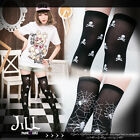 punk visual rock anthem pirate skull spider giddy print knee high socks