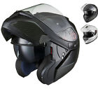 Black Optimus SV Flip Up Front Motorcycle Helmet Pinlock Ready Inner Sunvisor