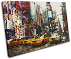 Times Square Grunge New York City SINGLE CANVAS WALL ART Picture Print VA