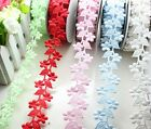 "5yards 1.2""(30mm) 3D Flower Lace Polyester Ribbon Party Wedding L2229-2234"