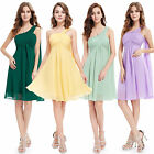 UK Short Sweet Sixteen Chiffon Bridesmaid Cocktail Party Gown Prom Dress 03537