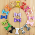 Sequin bow sparkley hairclip 5cm bow clip children toddlers girls pretty lot