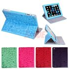 Cartoon Graffiti Magnetic Smart Leather Cases Wake/Sleep Cover Stand iPad 2 3 4