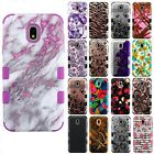 For LG Lucky L16C Hybrid Combo Holster KICKSTAND Rubber Cover +Screen Protector