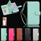 For Samsung Galaxy Note 5 4 Magnetic Flip Cover 9 Slots Card Wallet Leather Case