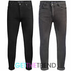Mens Genetic Apparel Designer Skinny Fit Jeans in Black or Charcoal Regular Leg