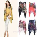 Fashion Womens Floral Casual Long Tunic Top Blouse Boatneck Batwing Sleeve Shirt
