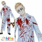 HALLOWEEN BLOODIED ZOMBIE PYJAMA BOY - age 7-13+ - kids boys fancy dress costume