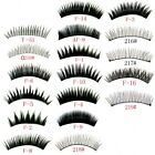 10 Pair Natural Long Black False Eyelashes Eye Lashes Makeup Choose Your Style