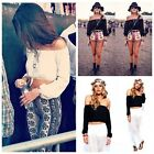 1x Sexy Womens Casual Boho Off Shoulder Shirt Summer Crop Tank Tops Blouse WFR