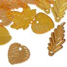 Bead Charm Drop Mix Acrylic Plastic Leaf Flower Frosted MANY SIZES & COLORS