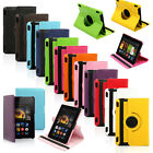 """360 Rotating PU Leather Case Cover w Stand For Amazon HDX 7"""" Kindle Fire 2013"""