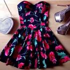 Women's Summer Sexy Lace Floral Casual Short Evening Party Mini Dress Outfit A70