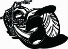 BIKE #2 DECAL VINYL GRAPHIC MOTORYCYCLE HOOD TAILGATE CAR TRUCK AUTO TRAILER