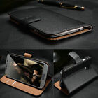 Genuine Real Leather Case Wallet Cover For Samsung Galaxy S4 S5 Mini S6 Edge