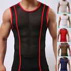 Fashion Sexy Mens Smooth Underwear T-Shirts Summer Sports Tee GYM Vest Top S M L