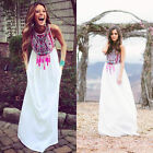 2015 Women Summer Boho Long Maxi Evening Party Dress Beach Dresses Chiffon Dress