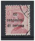 Venezia Giulia - 1919, 60c di corona on 60c Carmine-Red stamp - F/U - SG 74