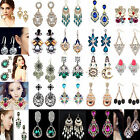 CH Elegant Women Vintage Style Fashion Rhinestone Dangle Stud Earrings 1 Pair 1