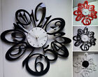 1 Art Modern 15 In Black Red White New Large Number Wall Clocks Home Room Decor
