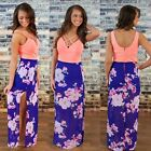 2015 New Sleeveless Womens Summer Boho Cocktail Beach Long Maxi Sundress Dress