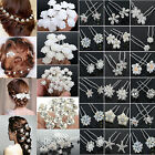 CHIC 20/40PCS Wholesale Wedding Bridal Pearl Flower Crystal Hair Pins Clips