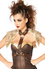 Spartan Warrior Women Harness Faux Leather Adult Costume Accessory