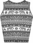 New Womens Aztec Paisley Print Sleeveless Stretch Short Vest Ladies Crop Top