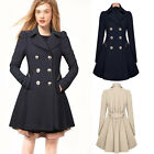 Fashion New Women Lapel Windbreaker Long Winter Parka Coat Trench Outwear Jacket