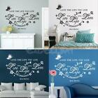 Quote Love The Life You Live Vine Art DIY Wall Sticker Room Home Decals Decor