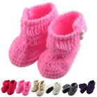 Cute Baby Girl/Boy Handmade Knit Sock Infant Non Slip soft Wool Shoes best gift