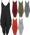 Womens Lagenlook Strappy Harem Jumpsuit Dress Ladies Cami Playsuit Vest Top 8-16