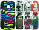 For Samsung Galaxy ACE Advanced HYBRID KICKSTAND Rubber Case Cover +Screen Guard