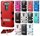 LG Volt 2 LS751 Rubber IMPACT TUFF Hybrid KICKSTAND Case Phone Cover Accessory
