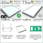 Brite Source Recessed LED Ceiling Panel 2016 Range - Emergency Options Available