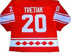 VLADISLAV TRETIAK USSR CCCP RUSSIAN HOCKEY JERSEY RED NEW ANY SIZE