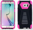 BLACK & HOT PINK T-Fusion Hybrid Cover for Samsung Galaxy S6 Edge Plus